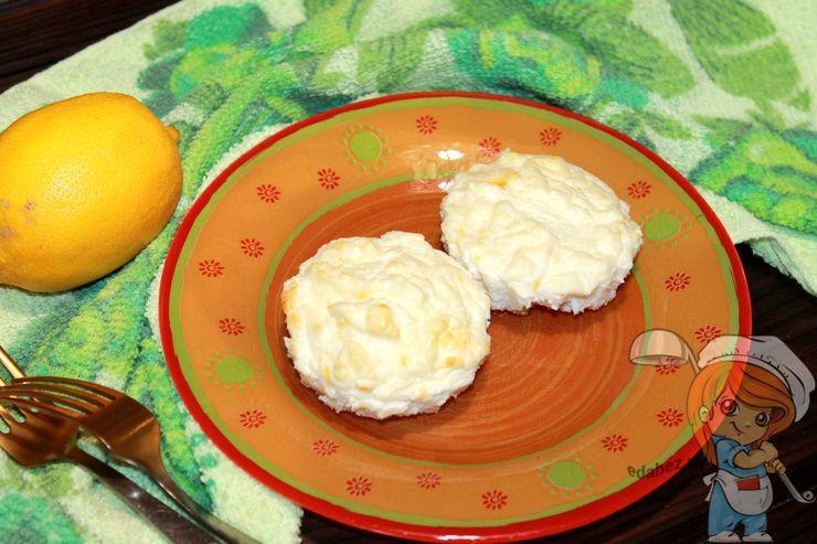 Творожное суфле с лимоном, рецепт с фото