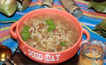 Чечевичный суп с бурым рисом - рецепт супа без мяса