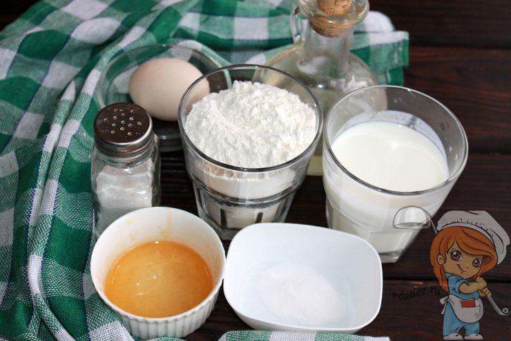 Продукты для выпекания оладий в духовке