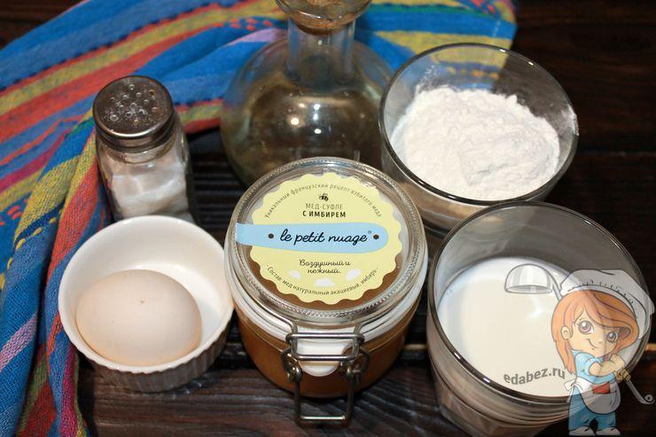 Ингредиенты для оладий без соды и без сахара