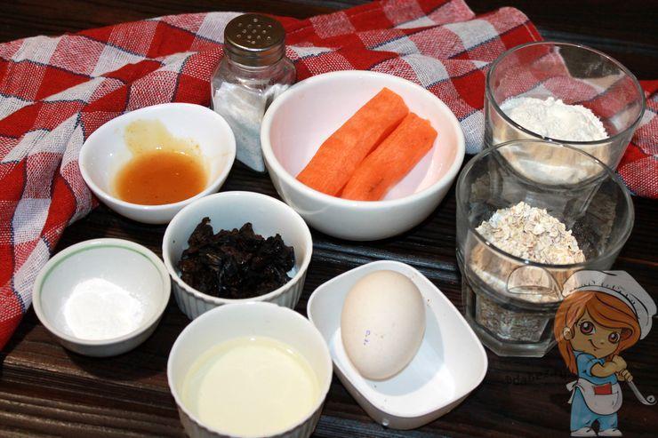 Продукты для выпекания морковных кексов