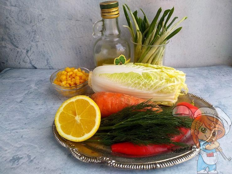 Ингредиенты для весеннего салата