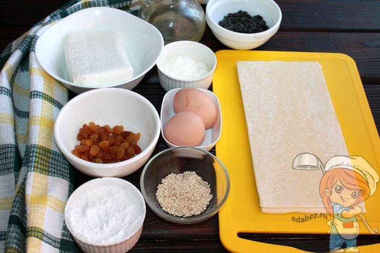 Продукты для пирога на Пасху