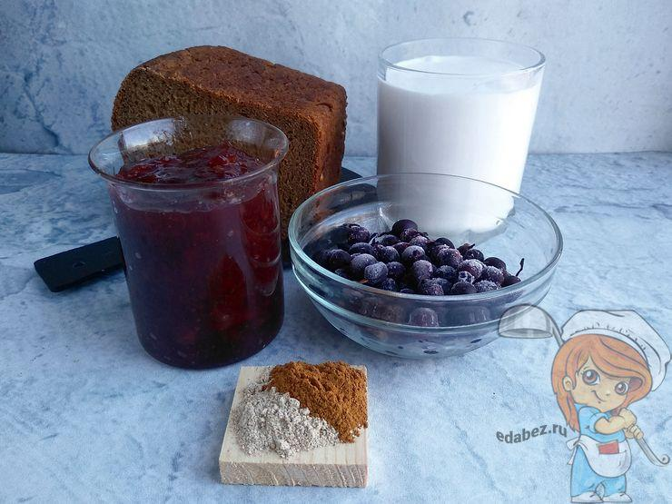 Ингредиенты для десерта из хлеба