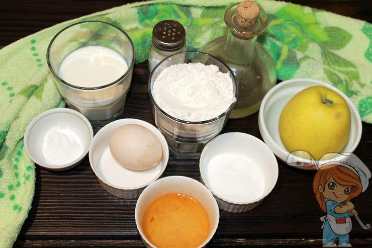 Ингредиенты для оладий с начинкой внутри