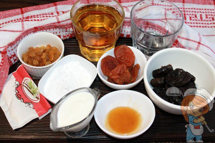 Ингредиенты для супа киселя