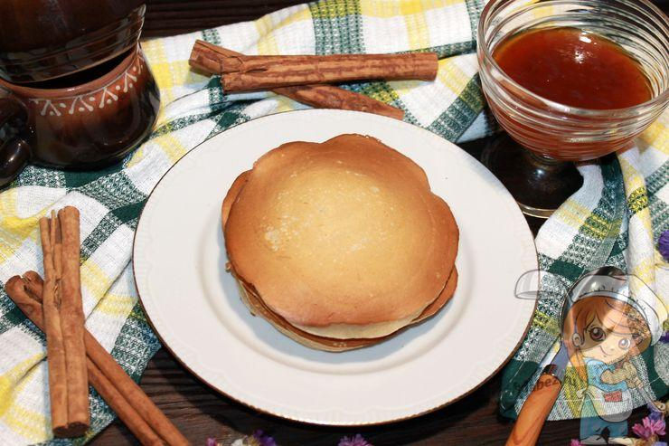 Панкейки без кефира, рецепт с фото