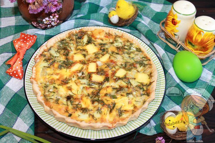 Пирог с луком и яйцом - рецепт с фото