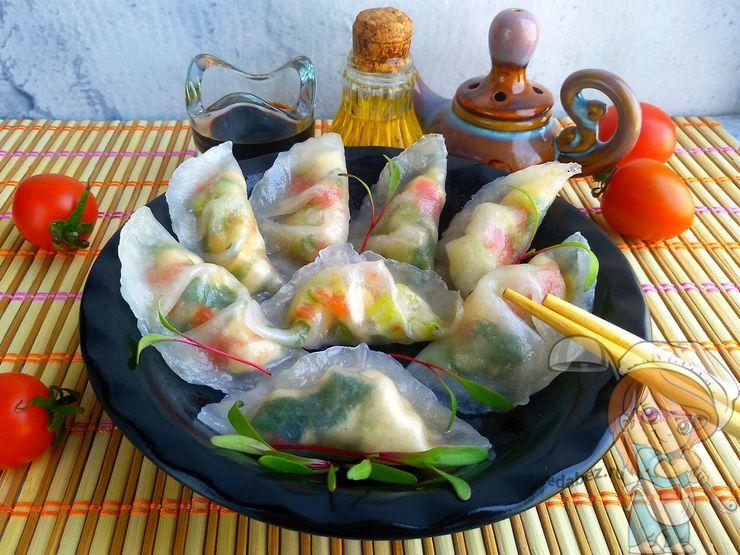 Прозрачные пельмени - рецепт китайских пельменей