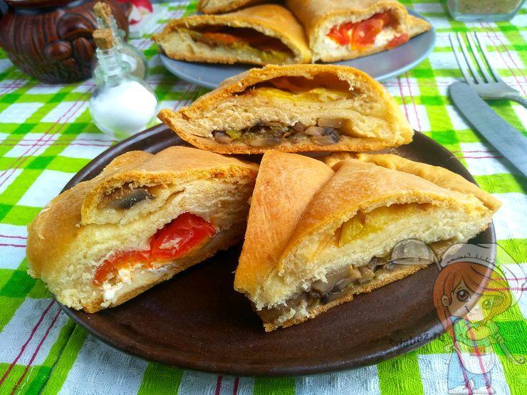 Пирог с тремя начинками, рецепт с фото