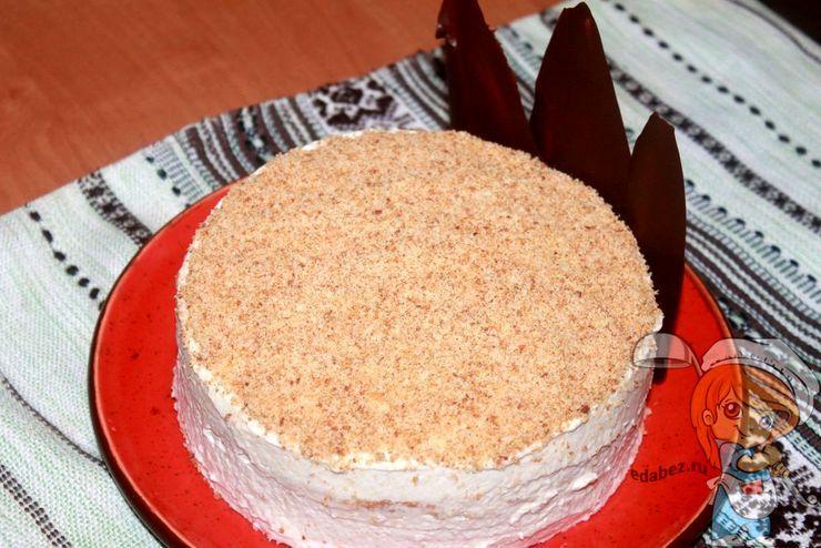 Яблочный торт со сливочным кремом