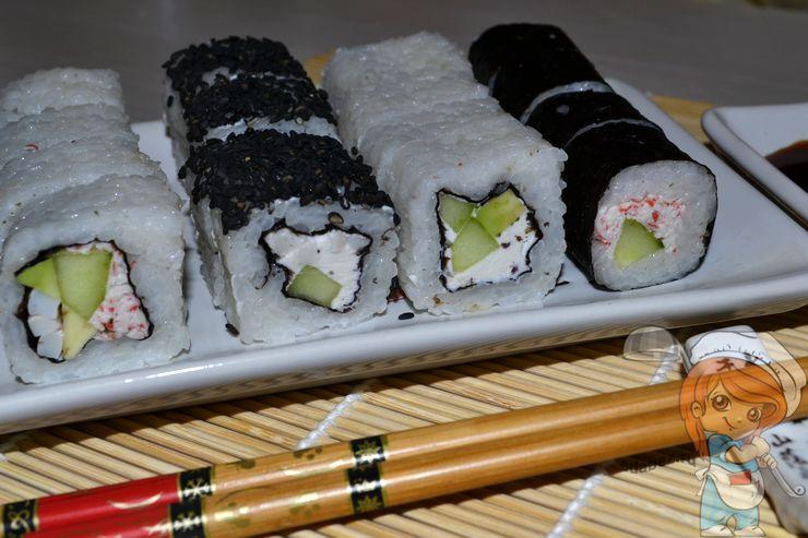 Роллы без сырой рыбы и без мяса