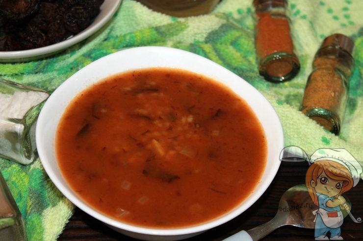 Вегетарианский харчо с черносливом, рецепт без мяса