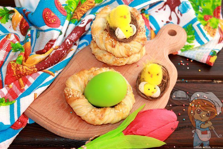 Блюдо на пасху - пасхальные гнезда