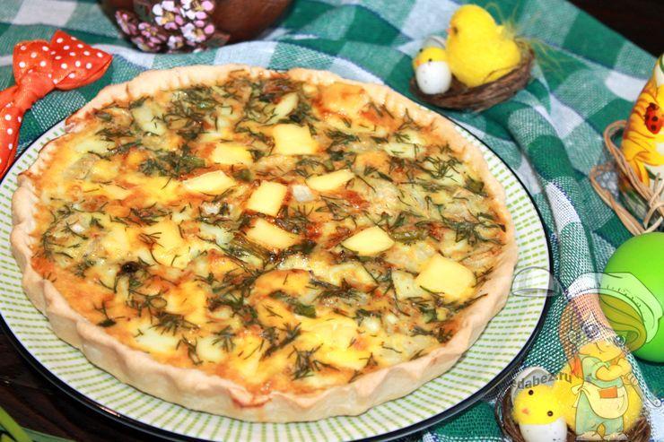 Пирог с луком и яйцом в духовке