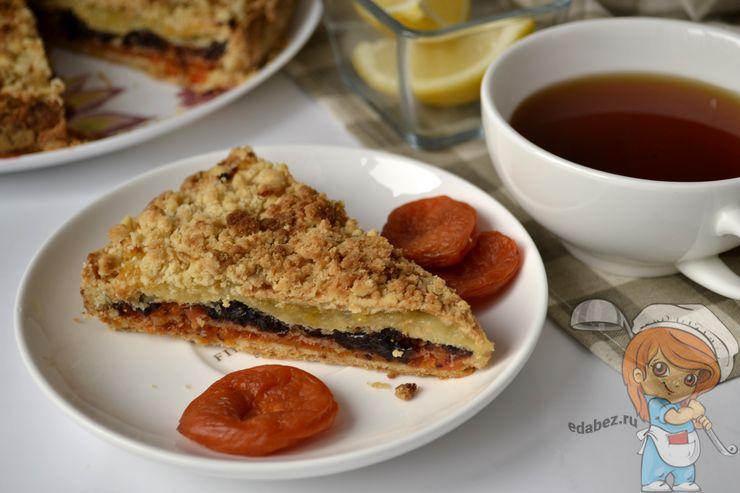 Татарский трехслойный пирог, рецепт с фото