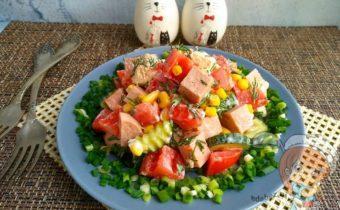 Вегетарианский салат минутка