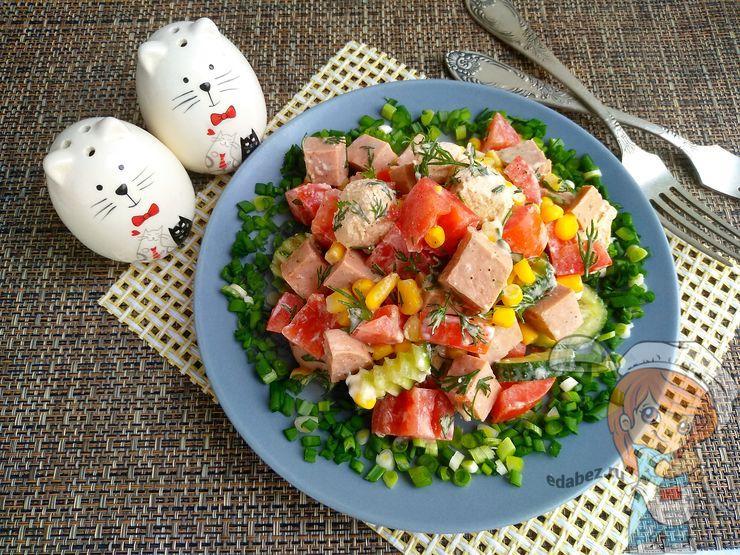 быстрый и простой в приготовлении салат Минутка
