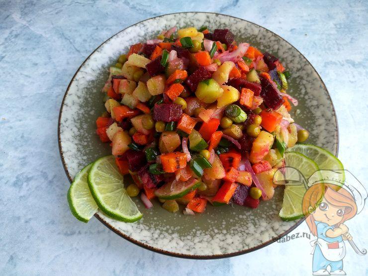 Винегрет с запеченными овощами