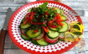 Салат фитнес, простой рецепт