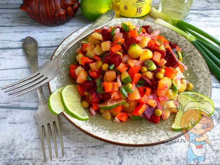 Винегрет в духовке, рецепт с запеченными овощами