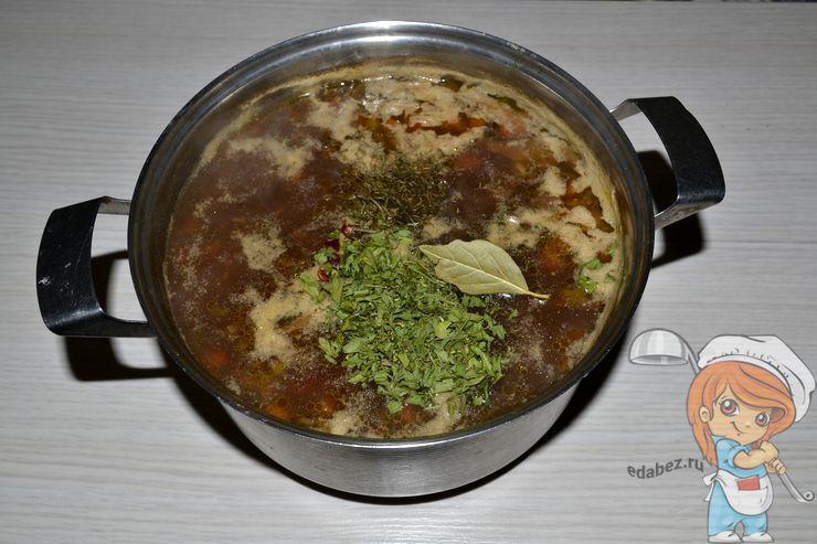 Даем грибному супу настояться