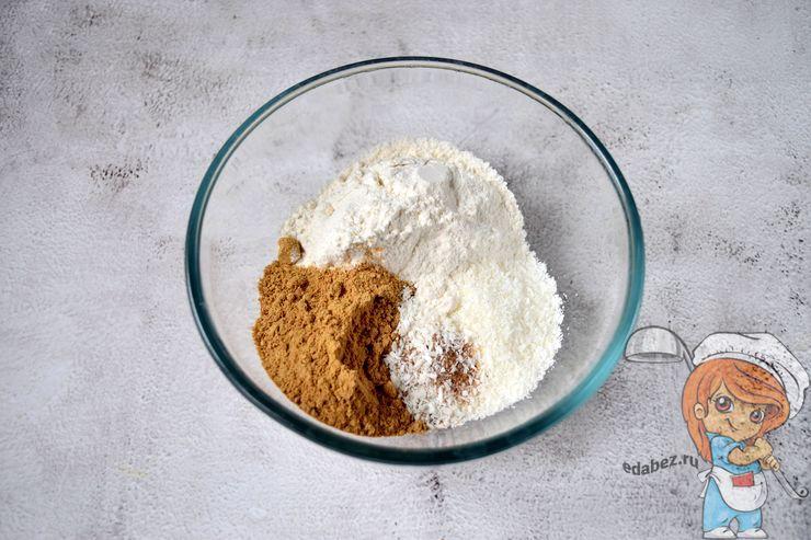 Мука с корицей и сахаром