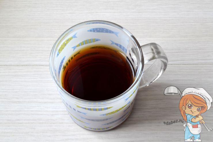 Стакан крепкого чая