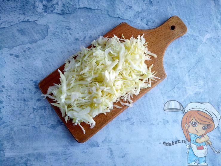 Тонко режем капусту