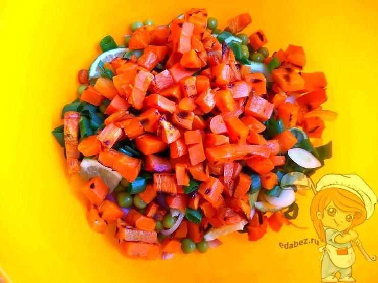 Запеченная морковь кубиками