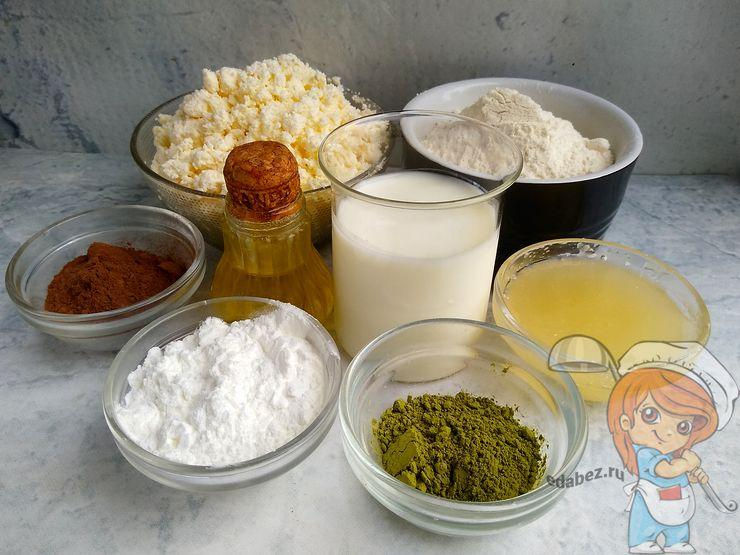 Ингредиенты для торта Матча