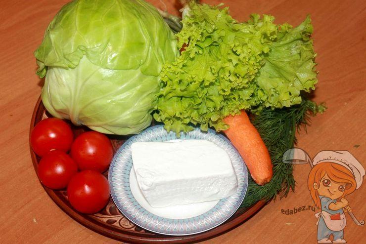 Продукты для салата с фетой