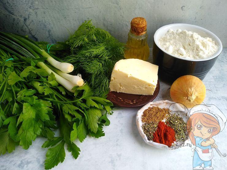 Продукты для вегетарианских чебуреков