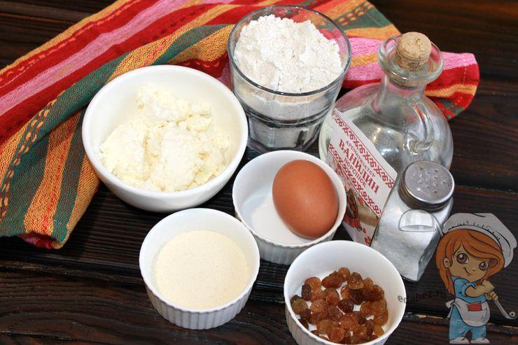 Ингредиенты для овсяных сырников
