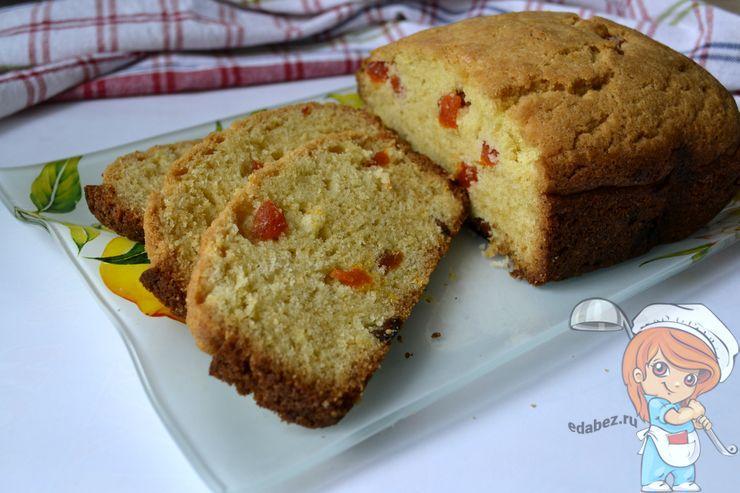 Вкусный кекс с курагой - рецепт в хлебопечке