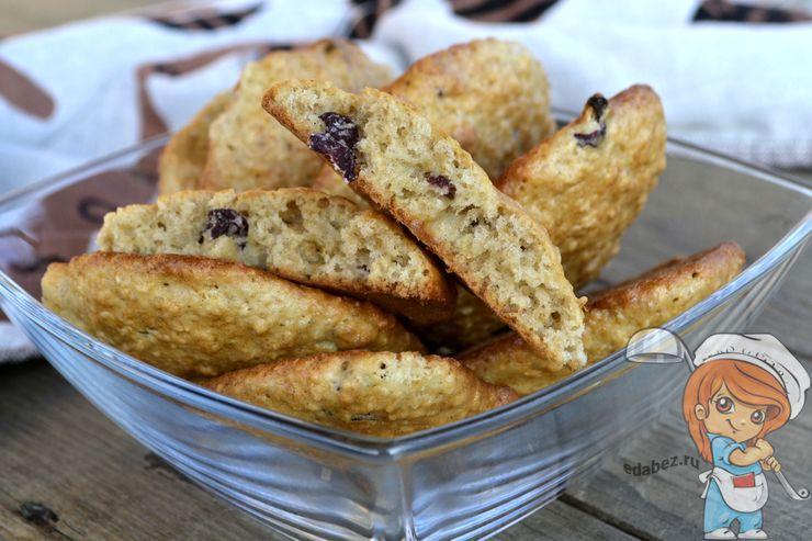 Рецепт овсяного печенья с вишней