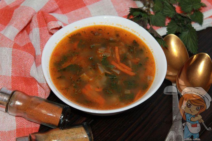 Суп из крапивы с картофелем