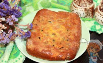 Заливной пирог с фасолью