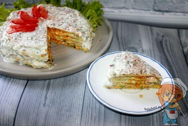 Кабачковый торт - рецепт с фото