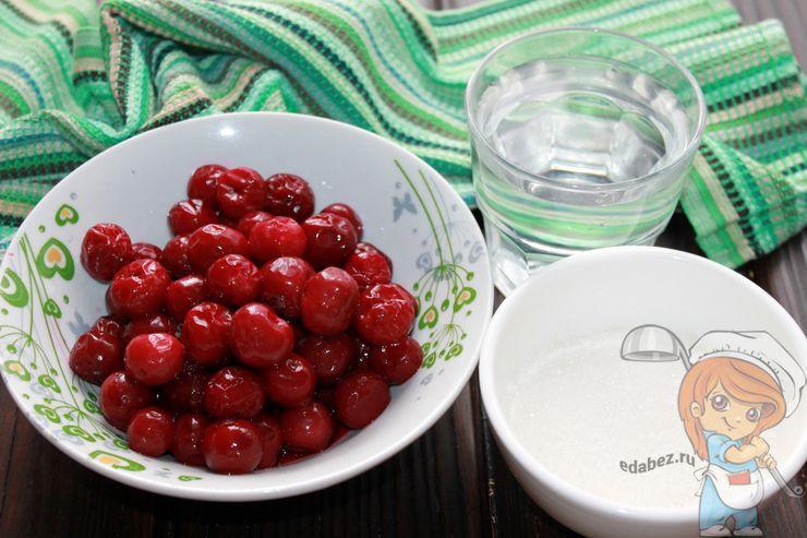 Ингредиенты для вишневого морса