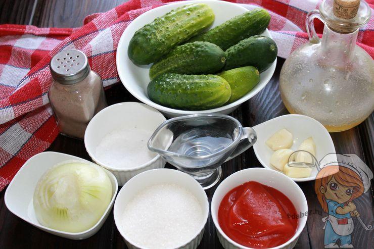 Ингредиенты для салата на зиму