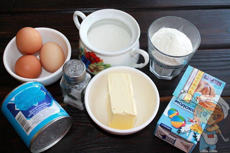 Ингредиенты для выпекания вафель
