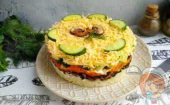 Грибы под шубой - салат с фото