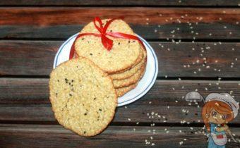 Кунжутное печенье - рецепт с фото