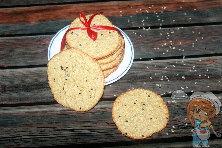 Как приготовить кунжутное печенье - рецепт
