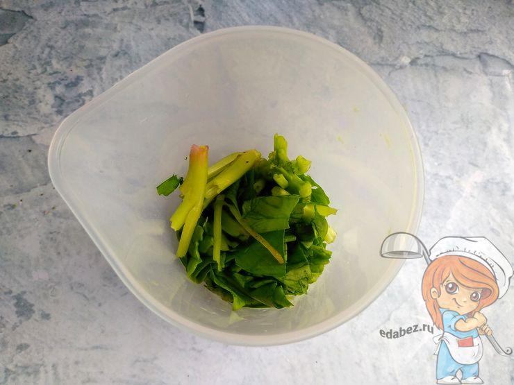 Моем и сушим шпинат