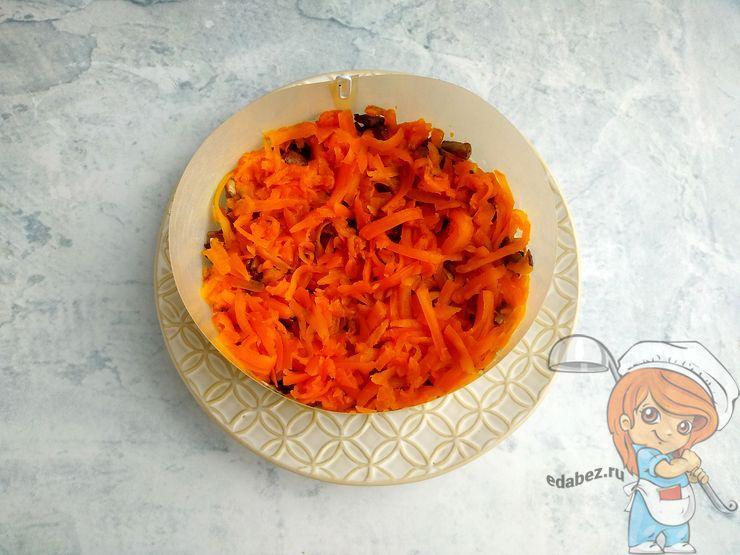 Слой варенной моркови
