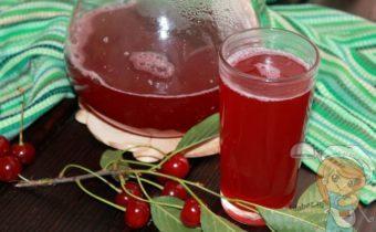 Морс из вишни - рецепт с фото