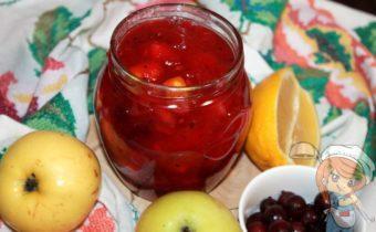 Варенье - крыжовник с яблоками