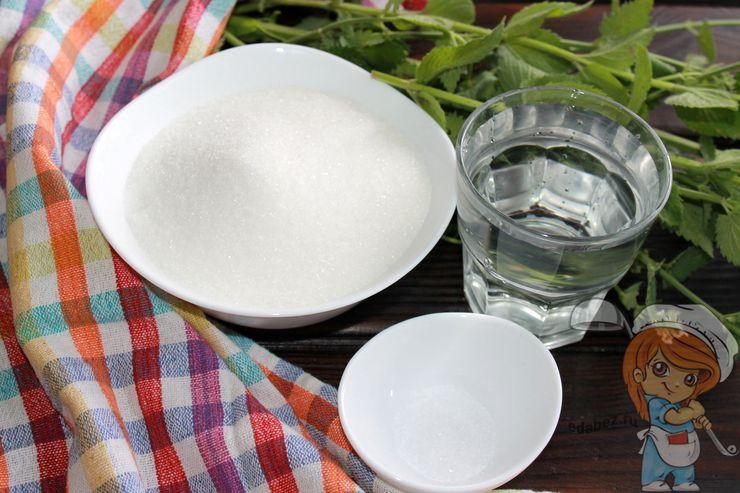 Ингредиенты для сиропа